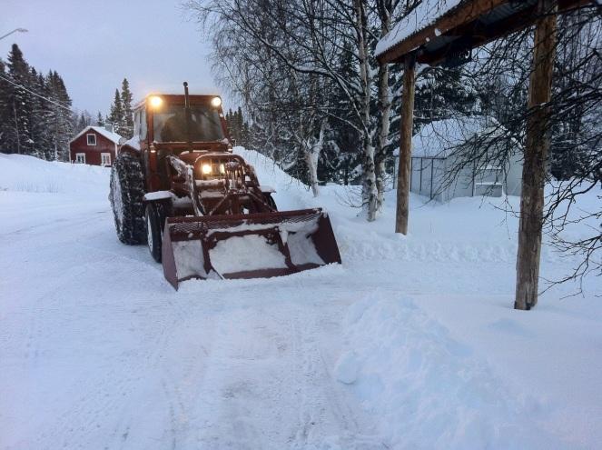 Snöskottning juldagen 2011